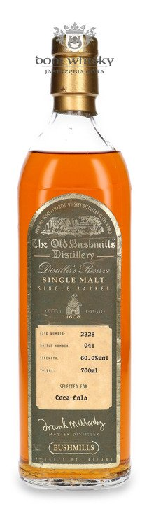 Bushmills Single Barrel Selected For Coca Cola / 60%/ 0,7l