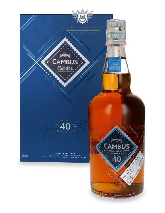 Cambus 1975, 40-letni Single Grain / 52,7% / 0,7l