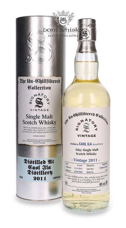 Caol Ila 8-letnia (D.2011, B.2020) Signatory Vintage (The Un-chillfiltered Collection) / 46%/ 0,7l