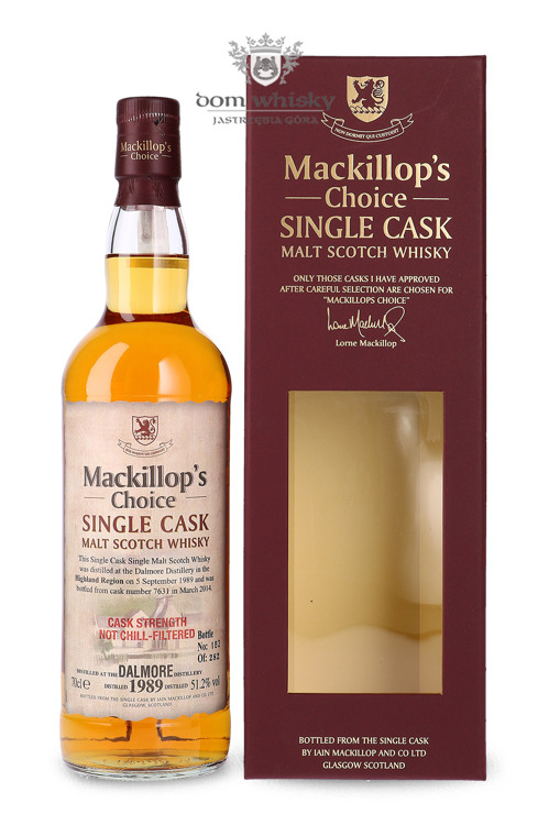 Dalmore 1989 (Bottled 2014) Mackillop's Choice / 51,2%/ 0,7l