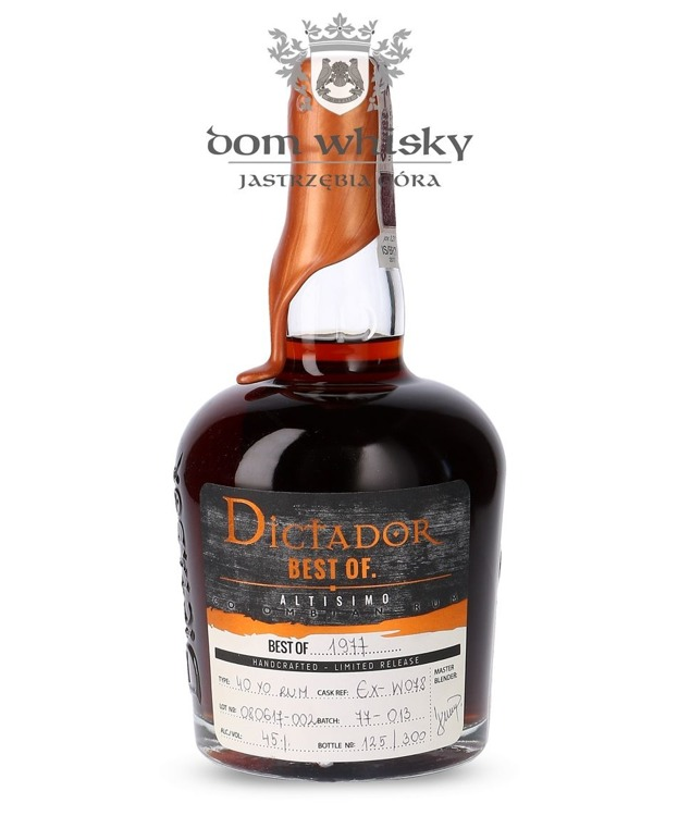 Dictador Rum Best of 1977, 40-letni / 45% / 0,7l