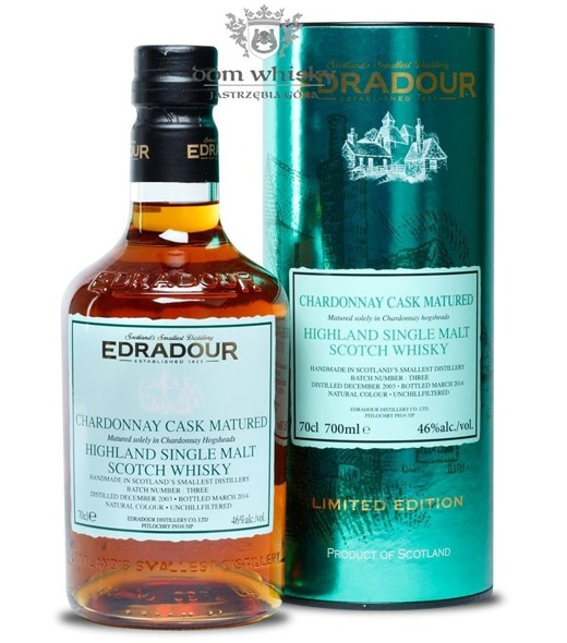 Edradour 2003(B. 2014)Chardonnay Cask Matured Batch#3/46%/0,7