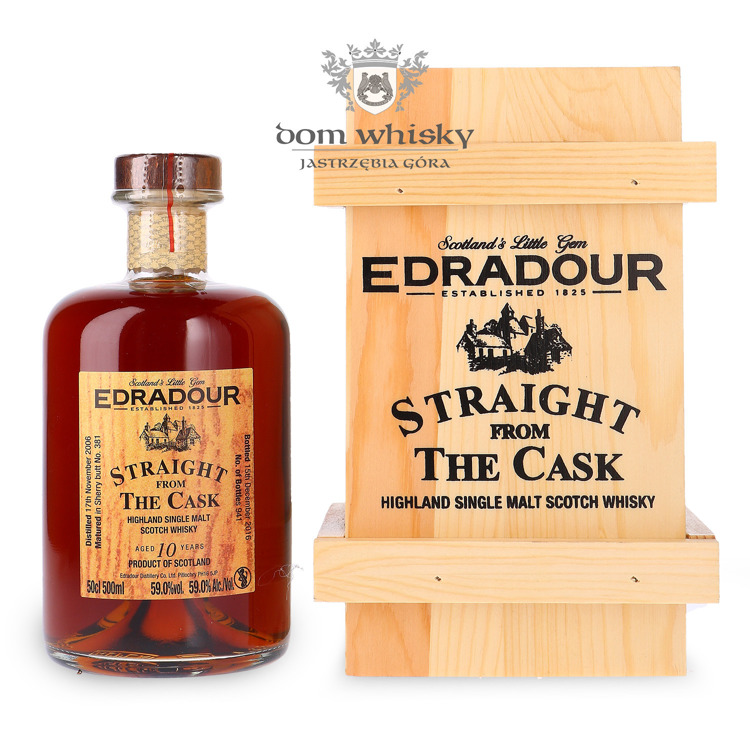 Edradour 2006, 10-letni Straight from the Cask (Sherry) / 59% / 0,5l