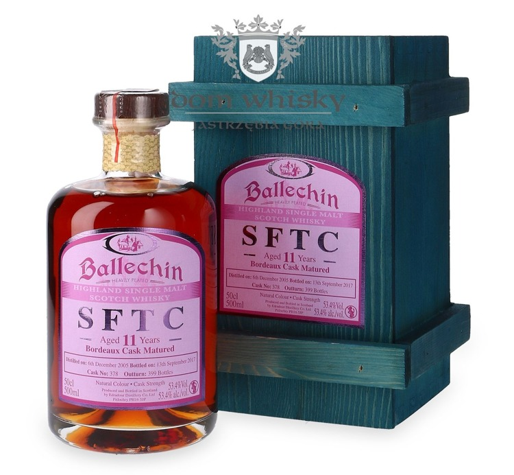 Edradour Ballechin 2005, 11-letni Straight from the Cask (Bordeaux) / 53,4% / 0,5l