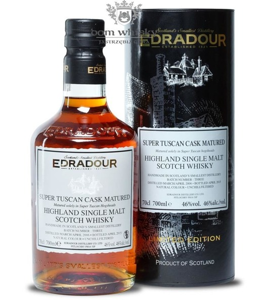 Edradour D.2006 B.2015 Super Tuscan Cask Matured Batch#3/46%/0,7