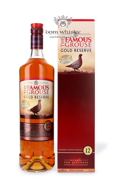Famous Grouse 12 letni Gold Reserve Travel Edition / 40% / 1,0l