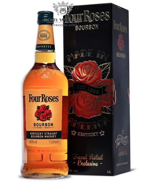 Four Roses Yellow Label Bourbon Whiskey /Tin box / 40% / 1,0l