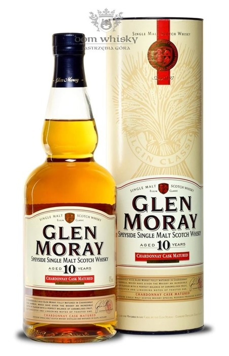 Glen Moray 10-letni Chardonnay Cask Matured / 40% / 0,7l