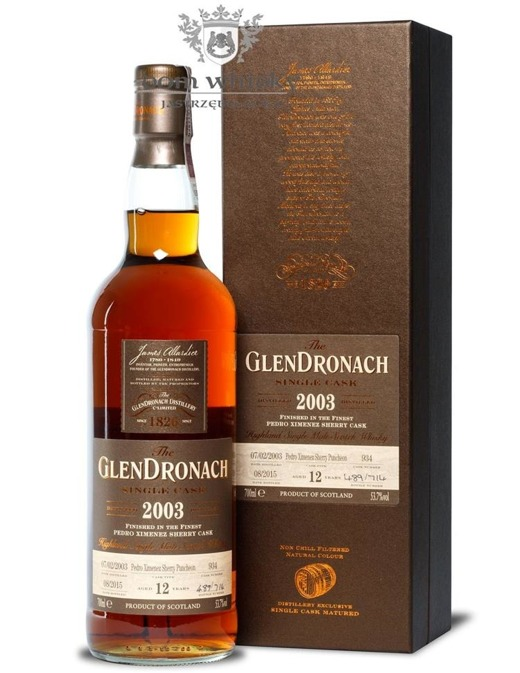 GlenDronach 12-letni (D.2003 B.2015) Single Cask #934 /53,7%/0,7