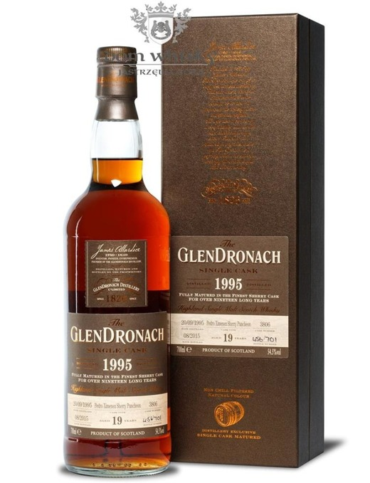 GlenDronach 19-letni (D.1995 B.2015)Single Cask #3806 /54,5%/0,7