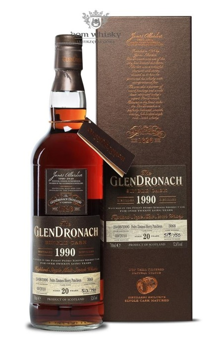 GlenDronach 20-letni(D.1990 B.2010)Single Cask #3068/52,6%/0,7l