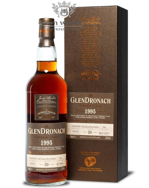 GlenDronach 20-letni (D.1995 B.2015)Single Cask #444/52%/0,7l