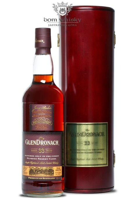 GlenDronach 33-letni Matured in Oloroso Sherry Casks / 40% / 0,7