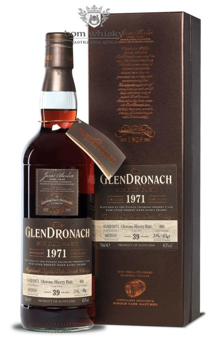 GlenDronach 39-letni (D.1971 B.2010)Single Cask # 489 /48,8%/0,7