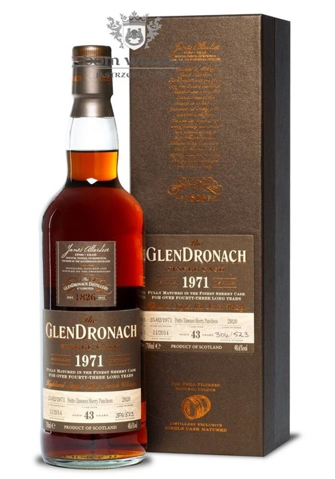 GlenDronach 43-letni (D.1971 B.2014)Single Cask # 2920/48,6%/0,7