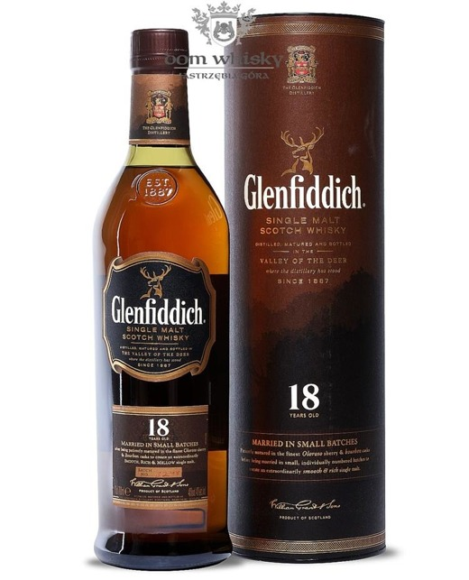 Glenfiddich 18-letni Married in small batches / 40% / 0,7l