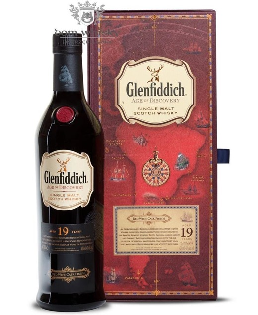 Glenfiddich 19-letni Age of Discovery Red Wine Cask / 40% / 0,7l