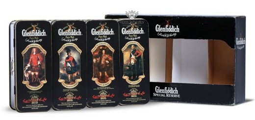 Glenfiddich 'Clans of The Highlands of Scotland' 4 x 0,05l