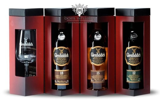 Glenfiddich Explorer Collection (12, 15, 18 y.o.) / 40% / 3x0,2l