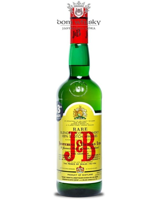 J&B Blended Scotch Whisky / Import. Milano / 43% / 0,75l