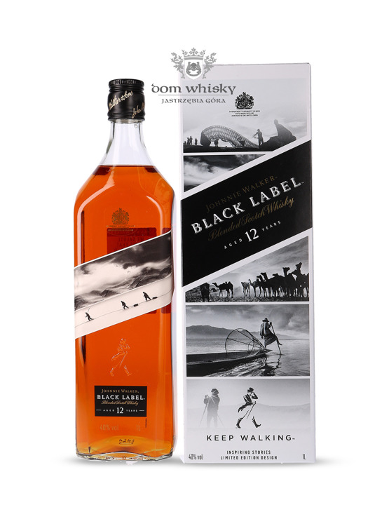 Johnnie Walker Black Label 12-letni Inspiring Stories No. 001 / 40% / 1l