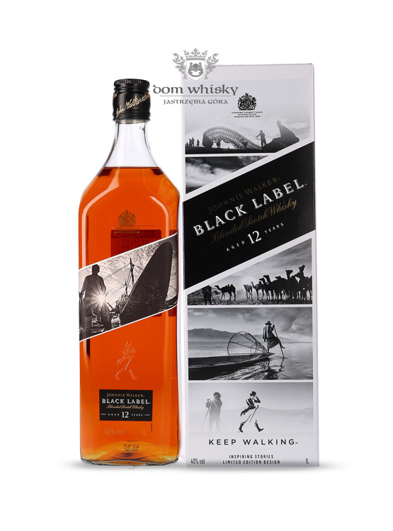 Johnnie Walker Black Label 12-letni Inspiring Stories No. 002 / 40% / 1l