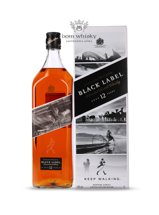 Johnnie Walker Black Label 12-letni Inspiring Stories No. 004 / 40% / 1l