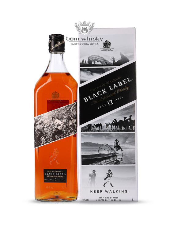 Johnnie Walker Black Label 12-letni Inspiring Stories No. 005 / 40% / 1l