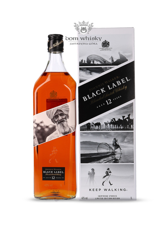 Johnnie Walker Black Label 12-letni Inspiring Stories No. 007 / 40% / 1l