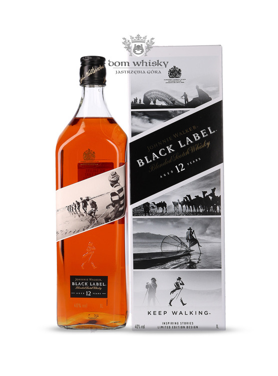 Johnnie Walker Black Label 12-letni Inspiring Stories No. 008 / 40% / 1l