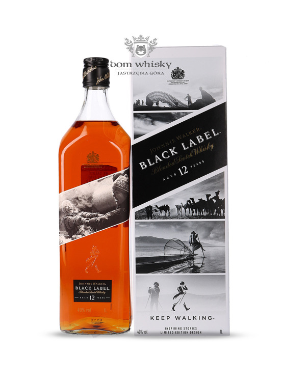 Johnnie Walker Black Label 12-letni Inspiring Stories No. 009 / 40% / 1l