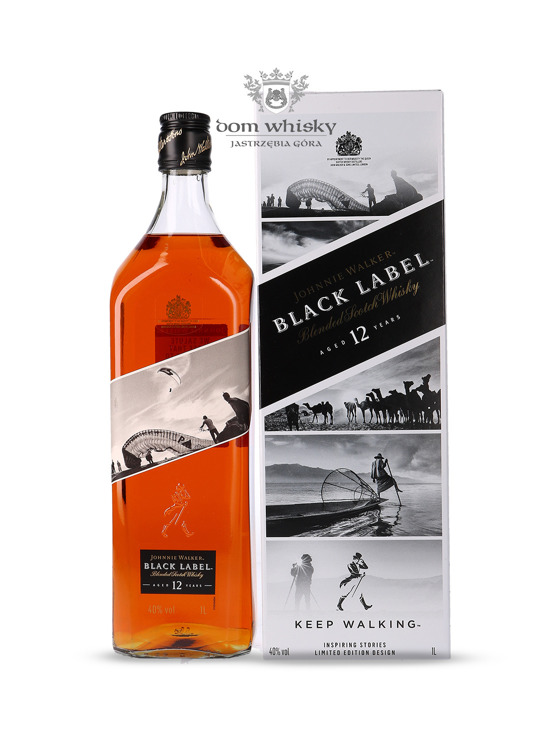 Johnnie Walker Black Label 12-letni Inspiring Stories No. 010 / 40% / 1l