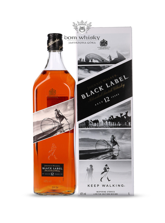 Johnnie Walker Black Label 12-letni Inspiring Stories No. 011 / 40% / 1l