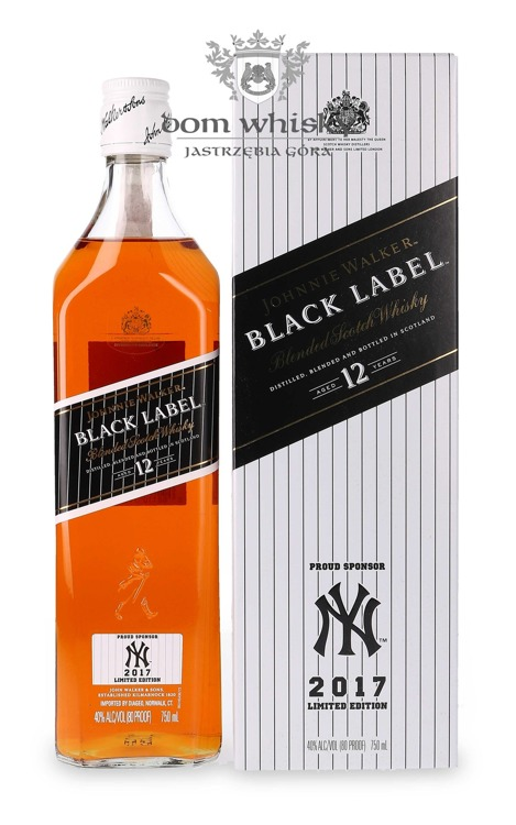 Johnnie Walker Black Label 12-letni, New York Yankees Edition 2017 / 40% /0,75l