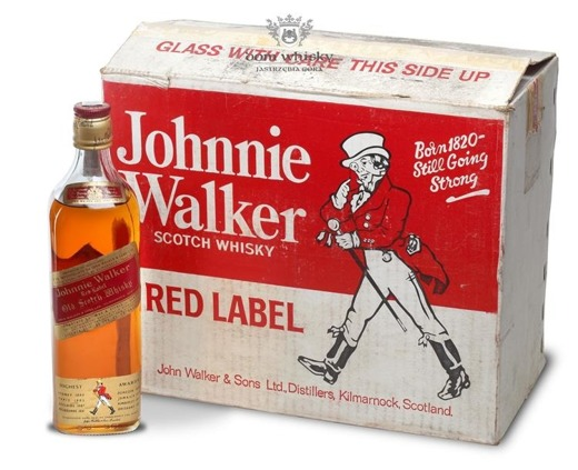 Johnnie Walker Red Label 1970's / 40% / 8 x 0,75l