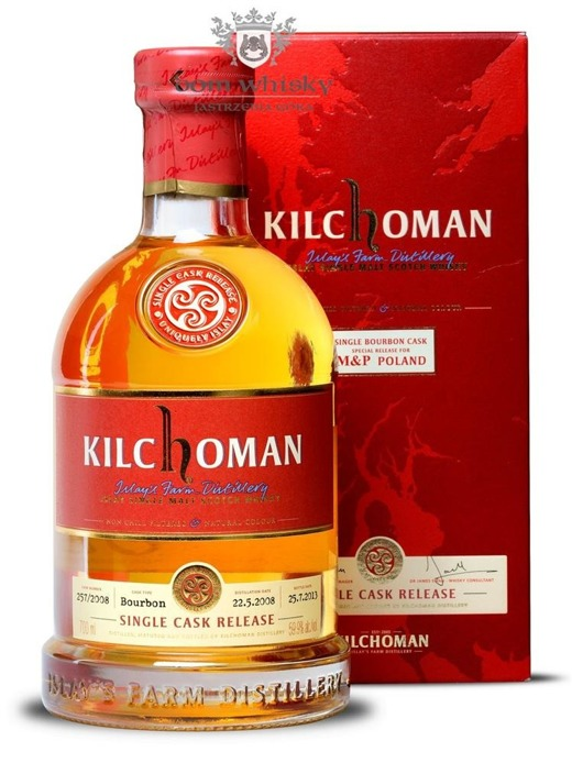 Kilchoman Single Cask 257/2008 (Bottled for M&P Poland) /59,9%/0,7l