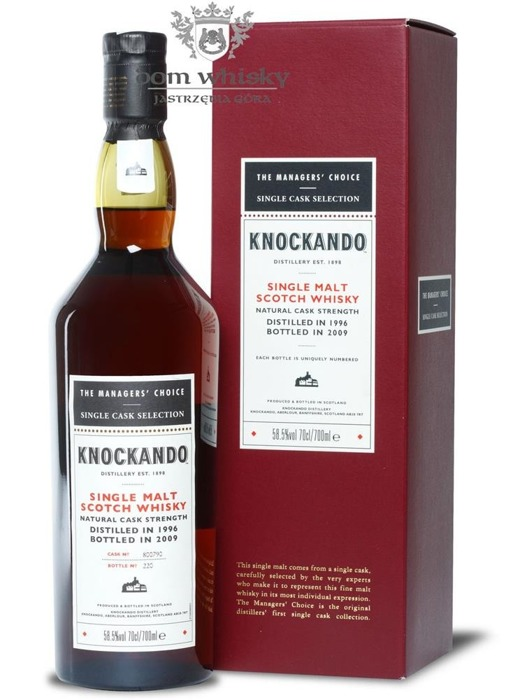 Knockando 1996 (Bottled 2009) The Manager's Choice /58,5%/0,7l