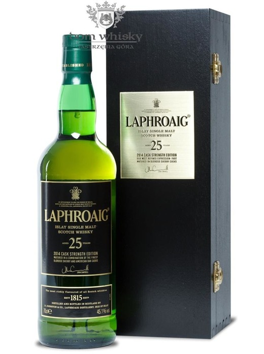 Laphroaig 25-letni (2014 Cask Strength Edition) /45,1%/0,7l