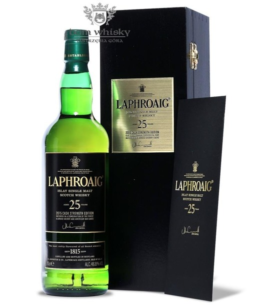 Laphroaig 25-letni Cask Strength (Released 2015) / 46,8%/ 0,7l