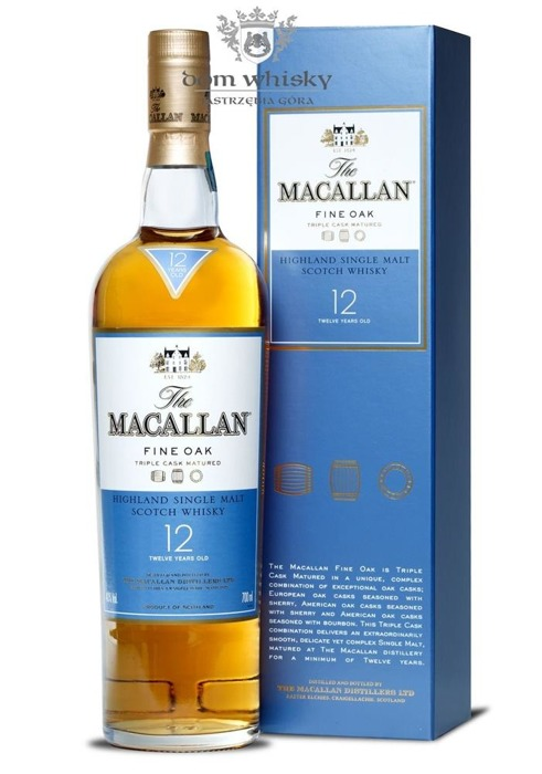 Macallan 12-letni Fine Oak (Triple Cask Matured) /40%/0,7l