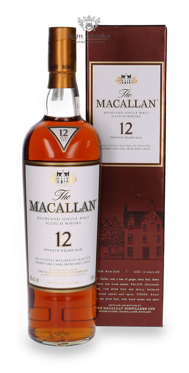Macallan 12-letni (Matured in Sherry Casks) /43%/ 0,75l