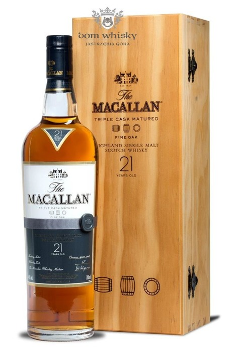 Macallan 21-letni Fine Oak (Triple Cask Matured) /43%/0,7l