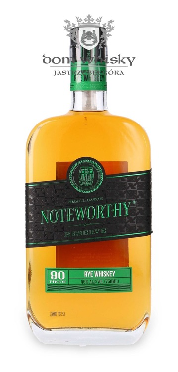 Noteworthy Small Batch Reserve Rye Whiskey / 45%/ 0,75l