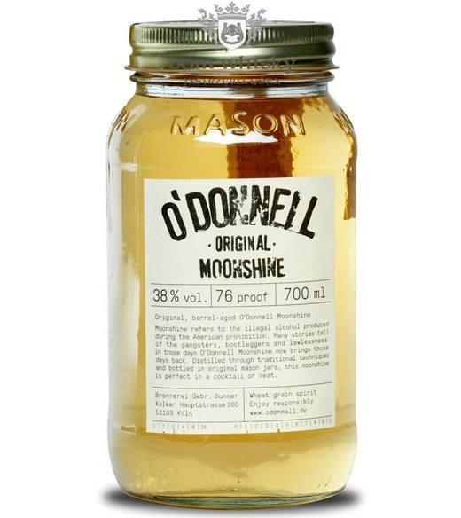 O'DONNELL Moonshine Original Wheat Grain Spirit / 38% / 0,7l