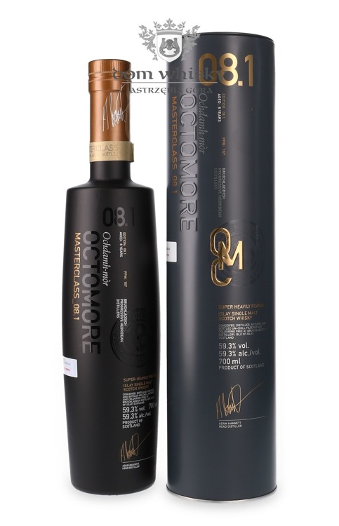 Octomore 08.1 Masterclass (167ppm) / 59,3%/ 0,7l