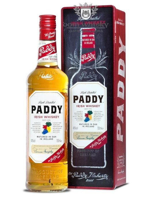 Paddy Irish Whiskey Tinbox / 40% / 0,7l