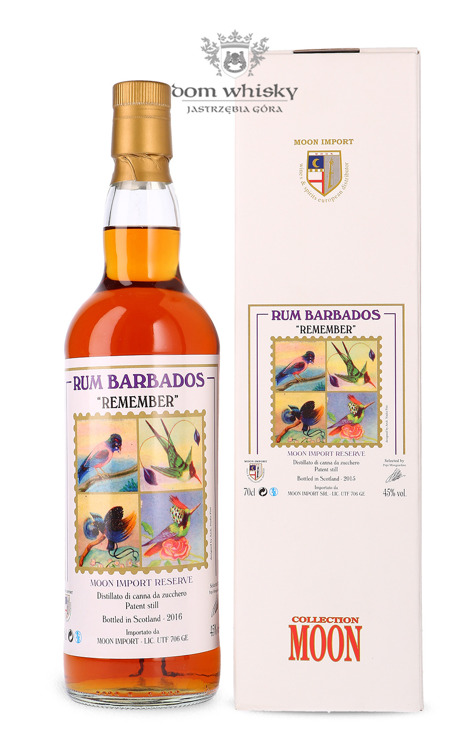 Rum Barbados Remember Moon Collection, (B.2016) / 45% / 0,7l