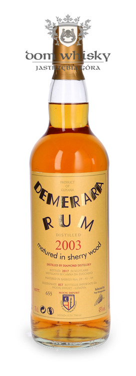 Rum Demerara Moon Collection, (D.2003 B.2017) / 45% / 0,7l