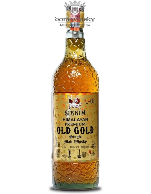 Sikkim Himalayan Premium Old Gold Whisky (Indie) / 40% / 0,7l