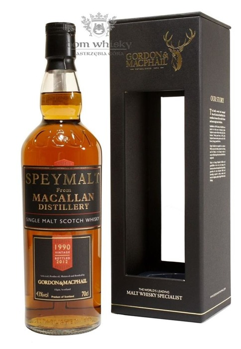 Speymalt from Macallan Distillery (D.1990, B.2012) G&M /43%/0,7l